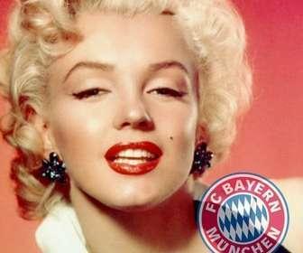 Fotomontage des FC Bayern München Logo auf Ihrem Foto.