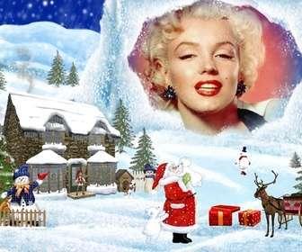 Ejemplo: Cartão de Natal com desenho de Natal cenário de fundo.