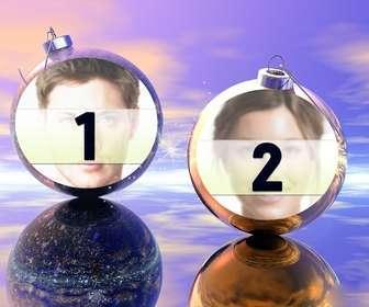 divertido fotomontaje navideno podras poner fotos bolas navidad ideal enviar felicitacion