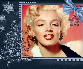 Cartolina di Natale classico, personalizzabile con una foto.