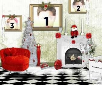 marco 3 fotos puedes poner fotos cuadros casa navidad
