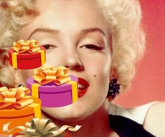 Ejemplo: Faça um cartão de aniversário personalizado com uma foto ou imagem. Este conjunto vai incluir pelo menos um de quatro caixas de presente pintadas em perspectiva, com laços de ouro.