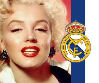 Ejemplo: Put the shield and the colors of Real Madrid with your photo!