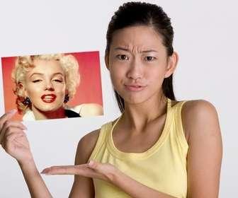Ejemplo: Fotomontagem, onde esta menina foi perguntado sobre quem na foto?