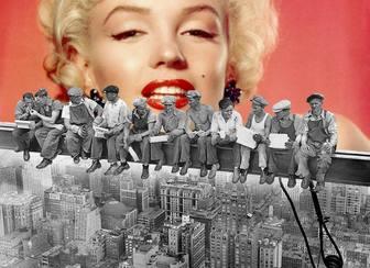 Ejemplo fotomontage mit dem ber 252 hmten foto mittagessen auf einem