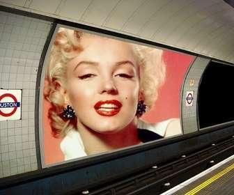 Ejemplo: Fotomontagem de colocar as duas fotos que você quer em alguns anúncios no metrô.