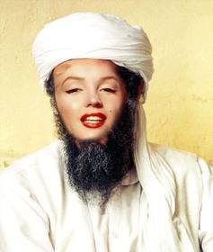 Ejemplo: Photomontage of Osama Bin Laden, put your face in the public enemy number one of the United States.