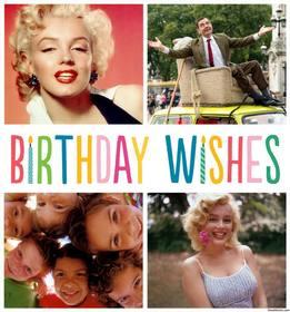 ANNIVERSAIRE SOUHAITE collage pour quatre photos et de célébrer votre anniversaire