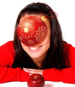 Weihnachtsbaumkugel online Ihre Fotos zu setzen.