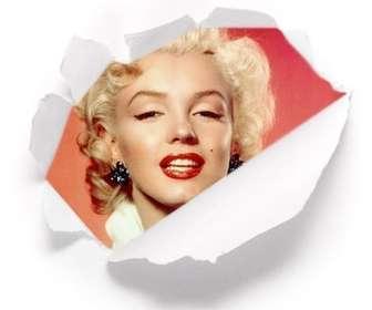 Setzen Sie Ihr Bild hinter einem ideal für Profilbilder zerrissenes Papier