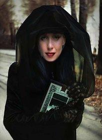 traje virtual de uma bruxa misteriosa para modificar com o seu