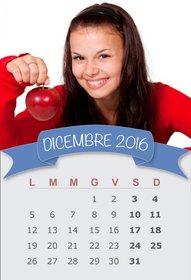 Calendario pantaloni a vita bassa in linea per modificare del mese di dicembre 2016
