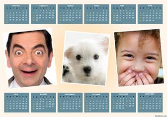 Add for free three photos to this original 2016 Calendar 2016
