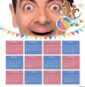 I bambini 2016 del calendario a carica una foto