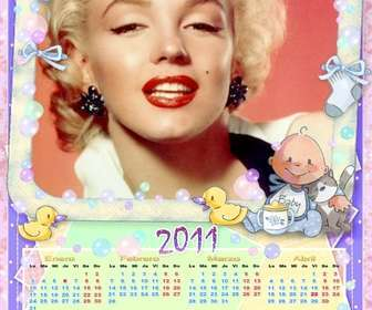 Ejemplo: Calendario para el 2011 en castellano, personalizable con una foto.