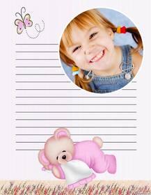 Online Brief mit einem Foto mit einem Kinder anpassen Design