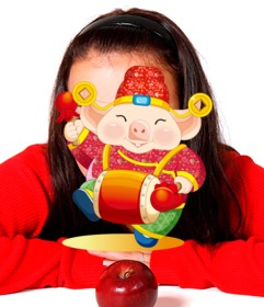 Cerdo de la suerte del año nuevo chino