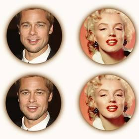 crea un collage compuesto cuatro fotografias forma circular un filtro sepia un sombreado alrededor foto
