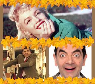 Foto collage para tres imágenes y con diseño otoñal para decorar