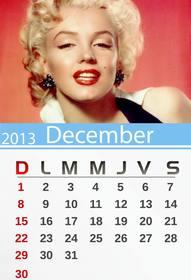 Ejemplo: Calendario de Diciembre de 2013 personalizable con tu foto. Para imprimir.(English)
