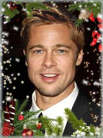 Carte postale avec des décorations de Noël pour personnaliser votre image.