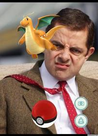 efeito da foto com Dragonite de Pokemon Go onde você pode adicionar uma captura de foto