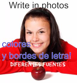 Escribir en fotos online. Agregar texto sobre fotos.