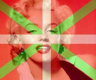 Ejemplo: Montaje para fotos para poner la bandera del País Vasco con tu foto de fondo.