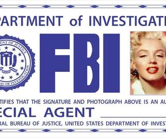 Ejemplo: Photomontage of FBI card. Surprise your friends by putting your picture!