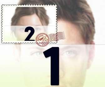 collage fotografias gran foto fondo pequena sello superpuesta