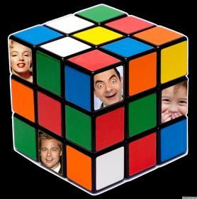 efeito original para adicionar quatro fotos dentro do cubo Rubik