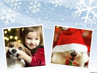 Fotocollage zu bearbeiten und Ihre Fotos mit einem Effekt Weihnachten Design