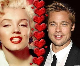 Collage donde puedes subir dos fotos divididas por corazones