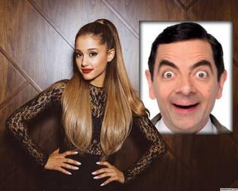 Efeito da foto com Ariana Grande para colocar sua foto.
