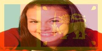 Filtro bandiera dello Sri Lanka per aggiungere un fotomontaggio foto
