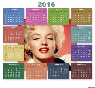 Free 2016 Calendar with colors to upload a photo