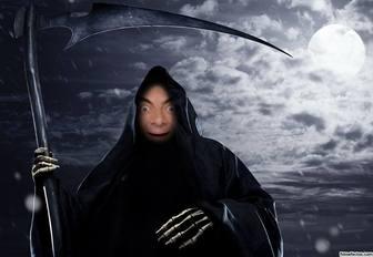 Fotomontagem para colocar seu rosto no ceifador negro