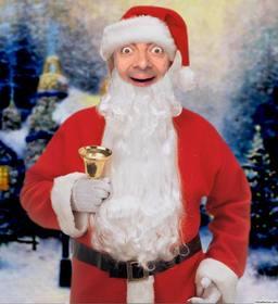 Online Fotomontage von Santa Claus mit einer Glocke Ihr Gesicht zu setzen