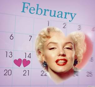 Célébrez Saint Valentin avec ce photomontage dun calendrier de Février