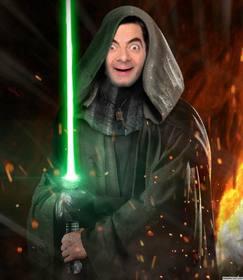 Fotomontaggio di mettere la tua foto sul volto di Luke Skywalker di Star Wars