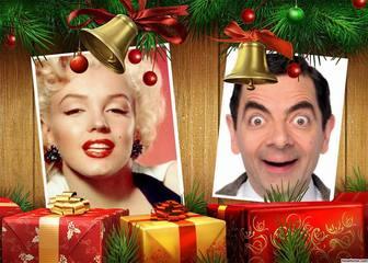 Sube dos fotos a éste collage de Navidad con regalos