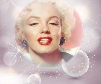 Immagine del profilo con le bollicine e luci intermittenti bianche per personalizzare il tuo avatar da Facebook e Twitter.