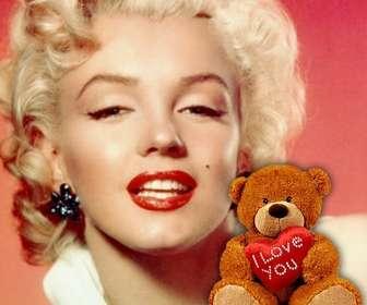 Ejemplo: Foto de perfil con un osito de peluche con un corazón para personalizar tu Facebook o tu perfil de Twitter.