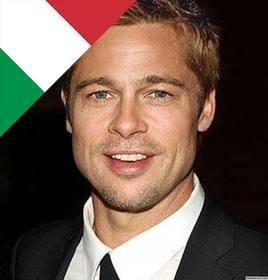 bandiera italiana in un angolo delle tue foto con questo effetto in linea