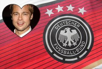 Effekt mit Schild und Hemd von Deutschland Fußballmannschaft
