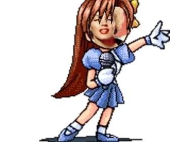 Fotomontaje de animaciones, efectos cosplay y manga con chicas
