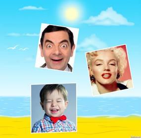Collage para editar especial de día soleado de playa para subir tres fotos