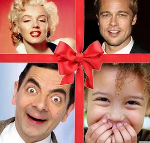 collage original cinta regalo editar 4 fotos