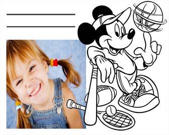 Laden Sie Ihr Foto zu dieser Zeichnung von Mickey und ausdrucken