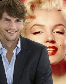 Ejemplo: Fotomontaje con Ashton Kutcher vestido de traje con barba de tres días y el pelo corto para tener una foto con él.